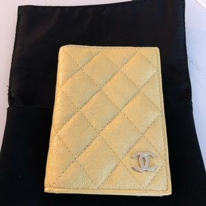 Chanel 19s Gold Metal (yellow) O-Card Holder